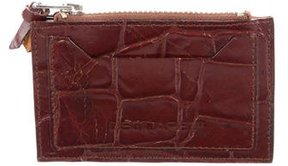 Dsquared2 Embossed Leather Coin Pouch