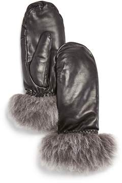 UGG Leather & Shearling Mittens