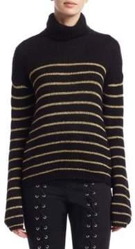 A.L.C. Elisa Metallic Stripe Turtleneck Sweater