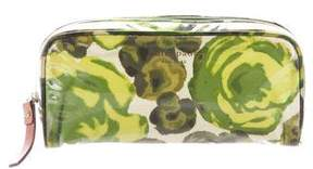 Kate Spade Floral Patent Pouch - GREEN - STYLE
