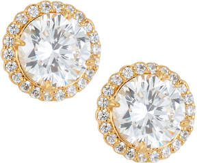 FANTASIA 22k Gold-Plated CZ Stud Earrings, Clear