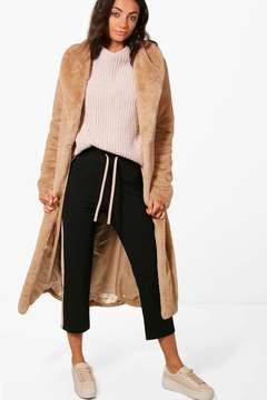 boohoo Tall Mia Teddy Faux Fur Coat
