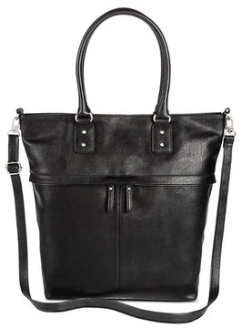 Merona Women's Faux Leather Tote handbag with Removable Crossbody strap