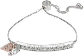 Brilliance+ Brilliance Two Tone Greatest Friend Bolo Bracelet with Swarovski Crystals