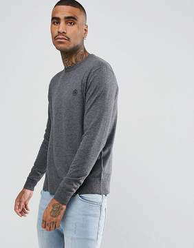 Pretty Green Hinchcliffe Crew Neck Sweater In Gray