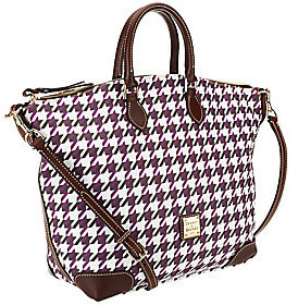 Dooney & Bourke As Is Houndstooth Domed Satchel - ONE COLOR - STYLE