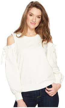1 STATE 1.STATE Cold Shoulder Blouson Sleeve Sweatshirt Women's Sweatshirt