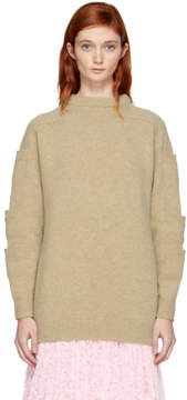 Christopher Kane Beige Stacked Pocket Sweater