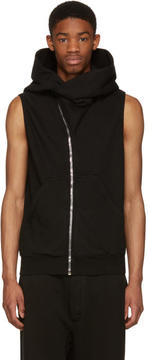 Rick Owens Black Sleeveless Mountain Hoodie