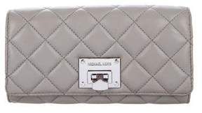 Michael Kors Michael Quilted Flap Wallet - GREY - STYLE