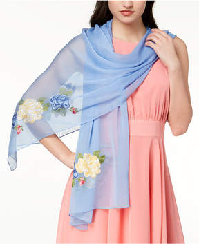 INC International Concepts I.n.c. Flower Vine Embroidered Scarf, Created for Macy's