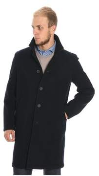 Altea Men's Blue Wool Coat.
