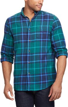 Chaps Men's Regular-Fit Plaid Flannel Performance Button-Down Shirt