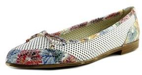 Amalfi by Rangoni Vernice Women Pointed Toe Patent Leather White Heels.
