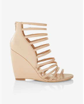 Express strappy wedge sandals