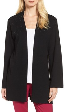 Chaus Women's Long Sleeve Beaded Cardigan