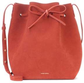 Mansur Gavriel Bucket suede crossbody bag