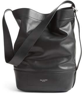 Rag & Bone Walker Sling Leather Bucket Bag - Black