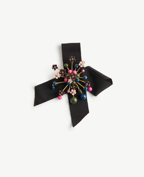 Ann Taylor Flower Burst Ribbon Pin
