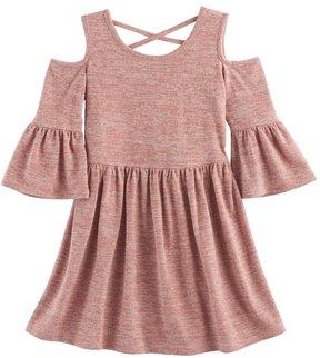 My Michelle Girls 7-16 Knit Cold Shoulder Dress