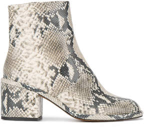 Robert Clergerie snake skin 65 ankle boots