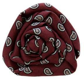 Charvet Paisley Print Silk Lapel Pin