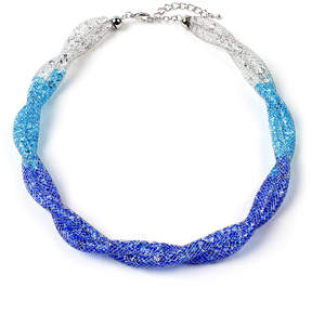 Amrita Singh Blue & White Mesh Necklace