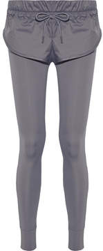 adidas by Stella McCartney Layered Shell And Stretch Leggings - Gray