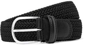 Andersons Anderson's Solid Woven Elastic Belt in Black