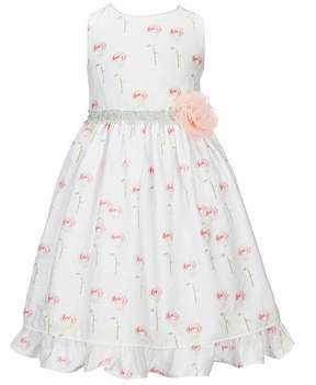 Laura Ashley London Little Girls 2T-6X Sleeveless Floral-Applique Dress
