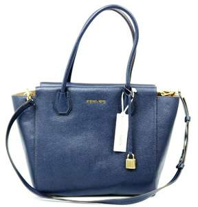 Michael Kors Mercer Large Satchel Admiral $328 - ADMIRAL BLUE - STYLE