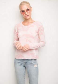 Generation Love Delaney Camo Distressed Sweater