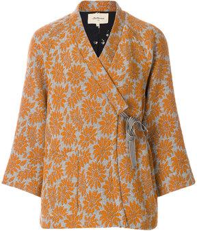 Bellerose floral jacquard wrap jacket
