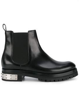 Alexander McQueen studded heel mod ankle boots