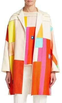Akris Mural Reversible Silk& Cotton Coat