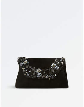 Dune Bathilda leather embellished clutch bag