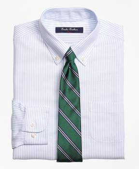 Brooks Brothers Non-Iron Supima® Cotton Oxford Stripe Dress Shirt