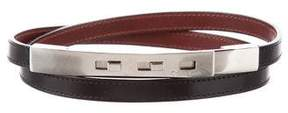 Calvin Klein Leather Skinny Belt