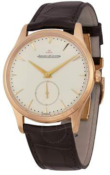 Jaeger-LeCoultre Jaeger Lecoultre Master Grande Ultra Thin Beige Dial Dark Brown Leather Men's Watch