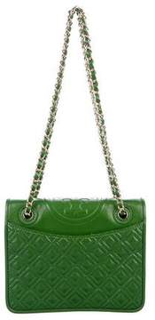 Tory Burch Fleming Quilted Patent Leather Shoulder Bag - GREEN - STYLE