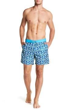 Mr.Swim Mr. Swim Aloha Print Swim Trunks