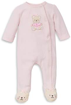 Little Me Girls' Sweet Bear Footie - Baby