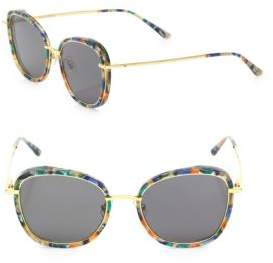 Gentle Monster Switch Back 53MM Round Square Sunglasses