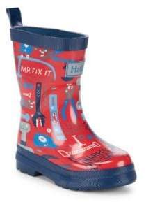 Hatley Boy's Mr. Fix It Rubber Rain Boots