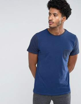 MANGO Man T-Shirt With Contrast Sleeves In Navy