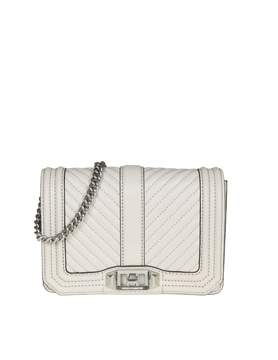 Rebecca Minkoff chevron Quilted Love Crossbody In Ice Leather - PUTTY - STYLE