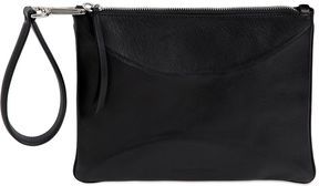 Small Structured Leather Clutch