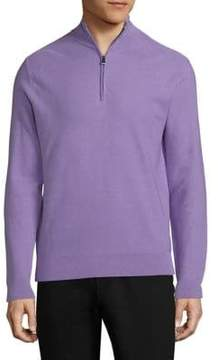 Ralph Lauren Half Zip Wool Blend Sweater