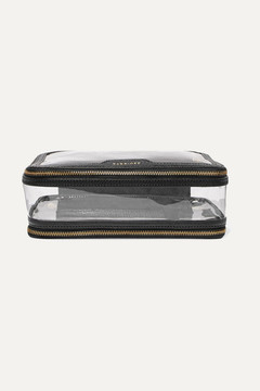 Anya Hindmarch Inflight Leather-trimmed Perspex Cosmetics Case - Black