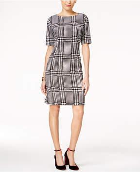 Alfani Houndstooth Sheath Dress, Created for Macy's
